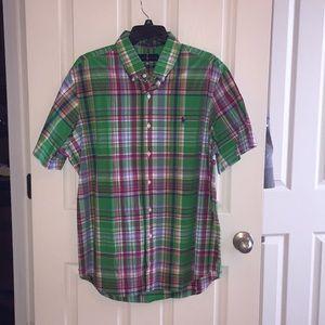 Men's shirt sleeve button up shirt. Ralph Lauren.